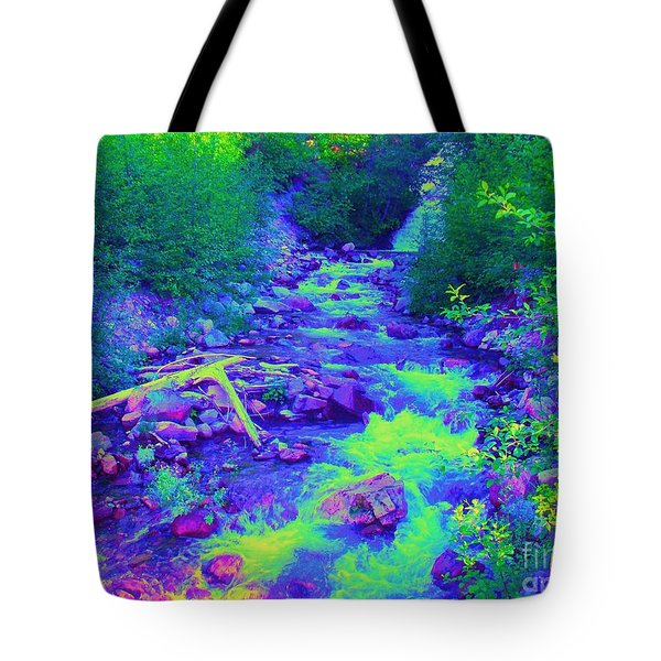 Tote Bag featuring the photograph Ohanapecosh River by Ann Johndro-Collins