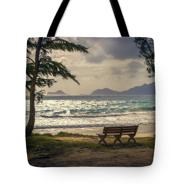 Tote Bag featuring the photograph Oahu Sunrise by Steven Sparks