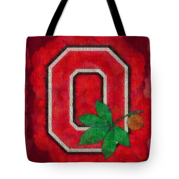 Ohio State Buckeyes On Canvas Tote Bag by Dan Sproul