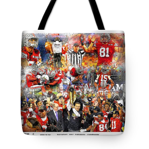 Ohio State National Champions 2015 Tote Bag