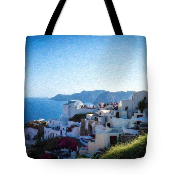 Oia Santorini Grk4332 Tote Bag