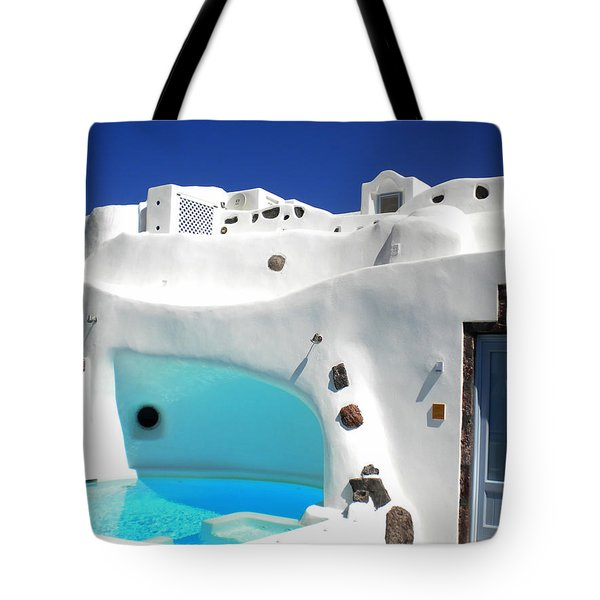 Oia Santorini  With Direct View To The Oceon Greece Tote Bag