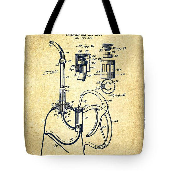 Oil Can Patent From 1903 - Vintage Tote Bag by Aged Pixel
