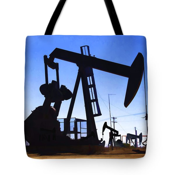 Oil Fields Tote Bag by Chuck Staley