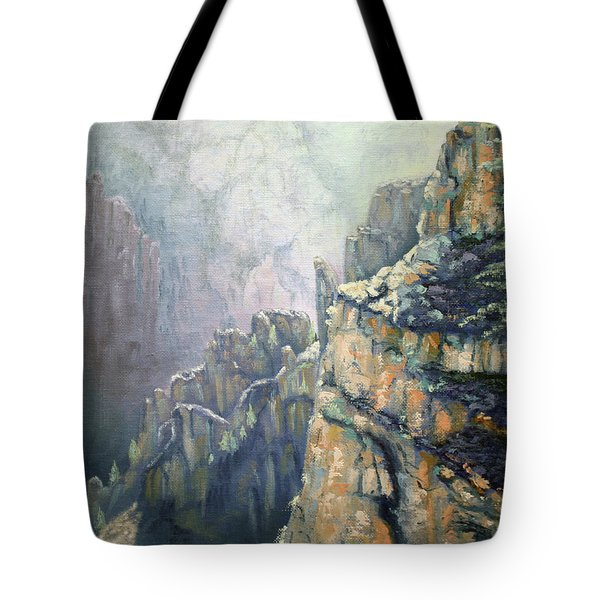 Oil Painting - Majestic Canyon Tote Bag