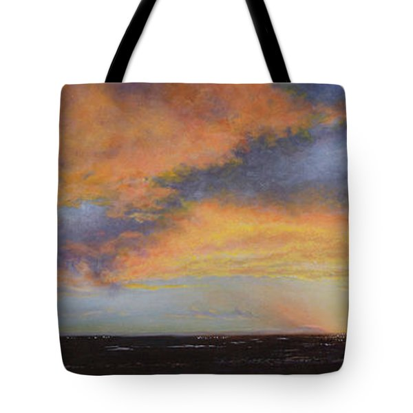 Oil Painting When The Sky Turns Color Tote Bag