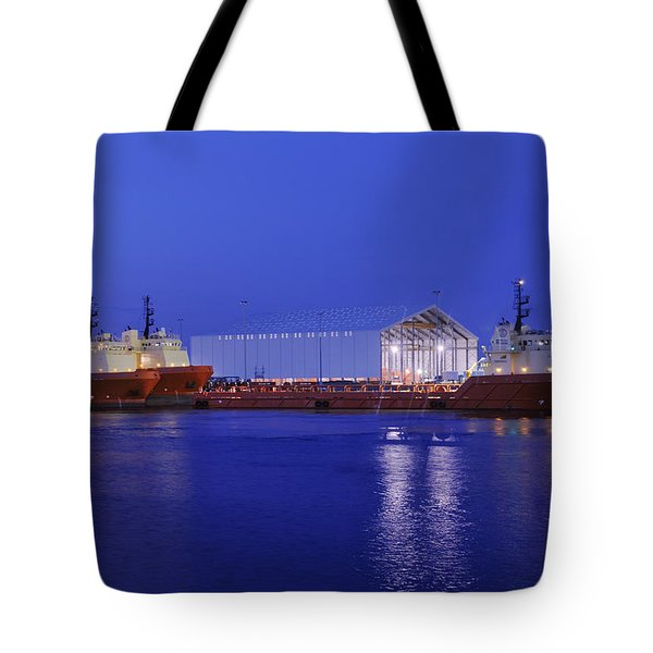 Oil Port At Night Tote Bag