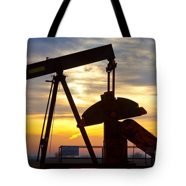 Oil Pump Sunrise Tote Bag