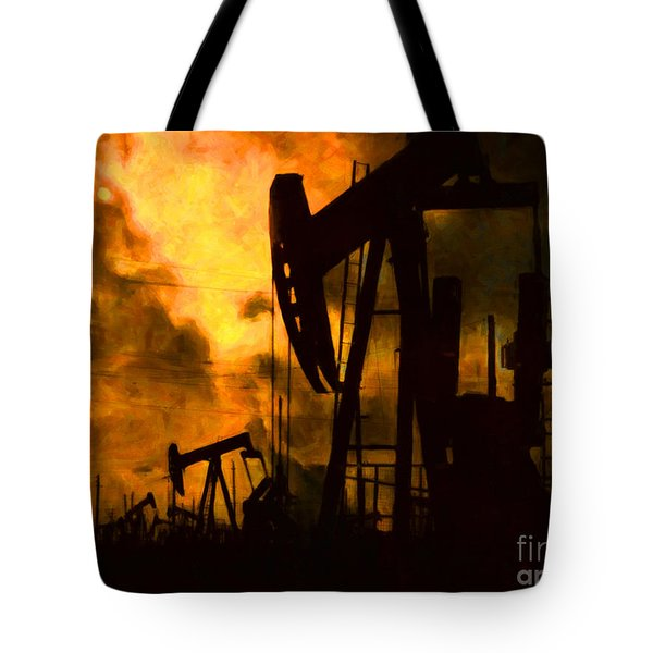 Oil Pumps Tote Bag