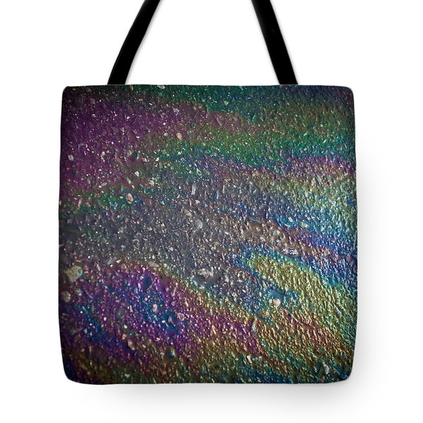 Oil Rainbow Tote Bag