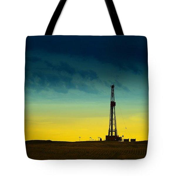 Oil Rig In The Spring Tote Bag