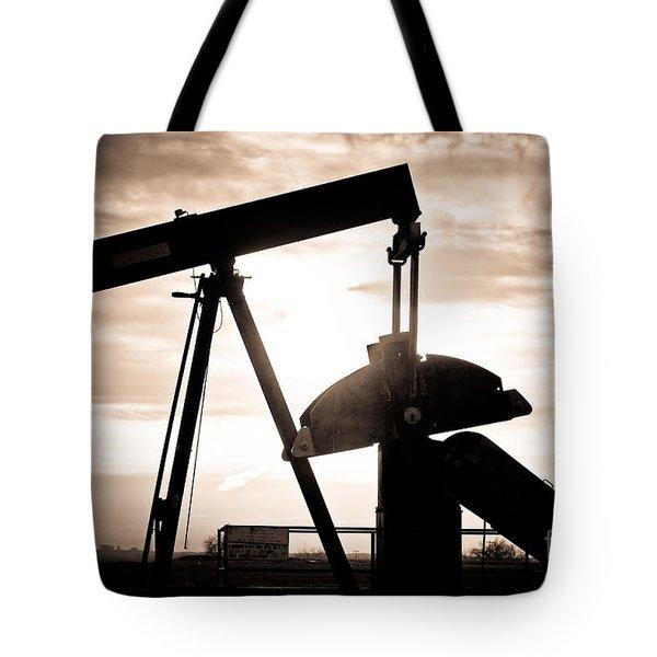 Oil Well Pump Tote Bag