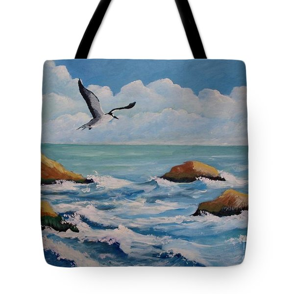 Oiseau Solitaire Tote Bag