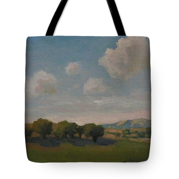 Tote Bag featuring the painting Ojai Oaks by Jennifer Boswell