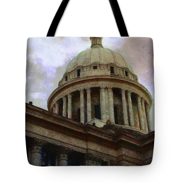 Tote Bag featuring the painting Oklahoma Capital by Jeffrey Kolker