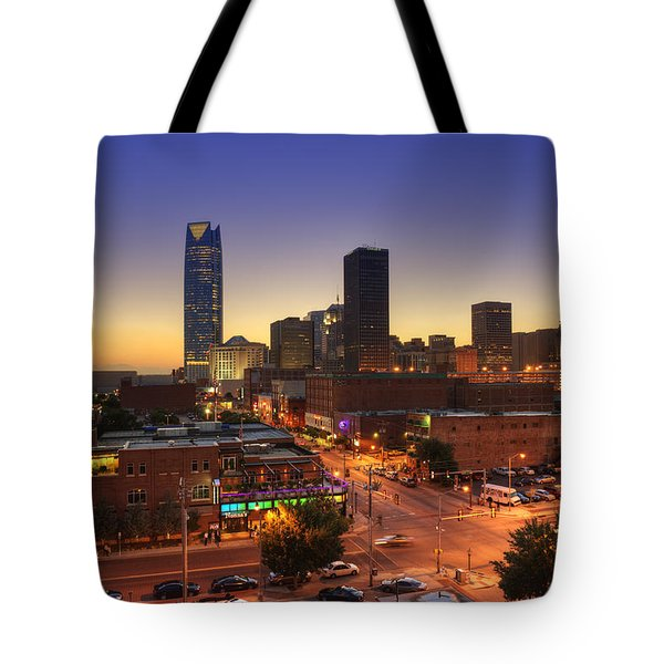 Oklahoma City Nights Tote Bag