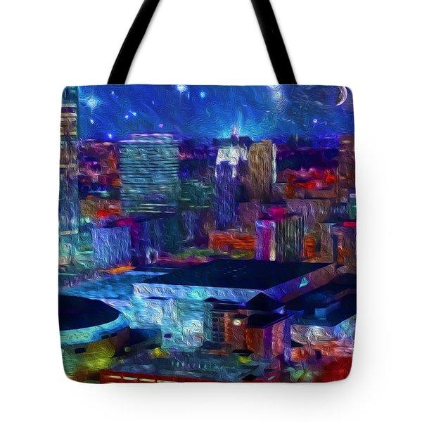 Oklahoma City Starry Night Tote Bag