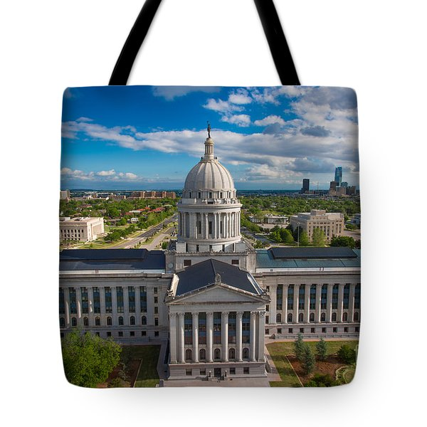 Oklahoma City State Capitol Building B Tote Bag by Cooper Ross