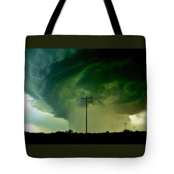 Tote Bag featuring the photograph Oklahoma Mesocyclone by Ed Sweeney
