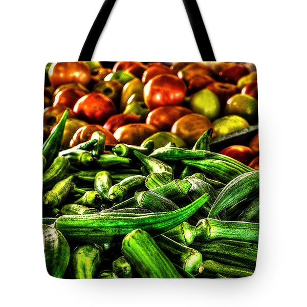 Okra And Tomatoes Tote Bag