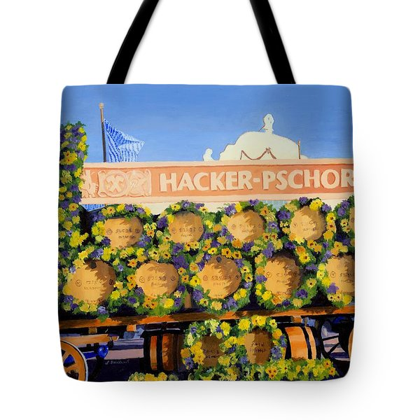Tote Bag featuring the painting Oktoberfest by Lynne Reichhart
