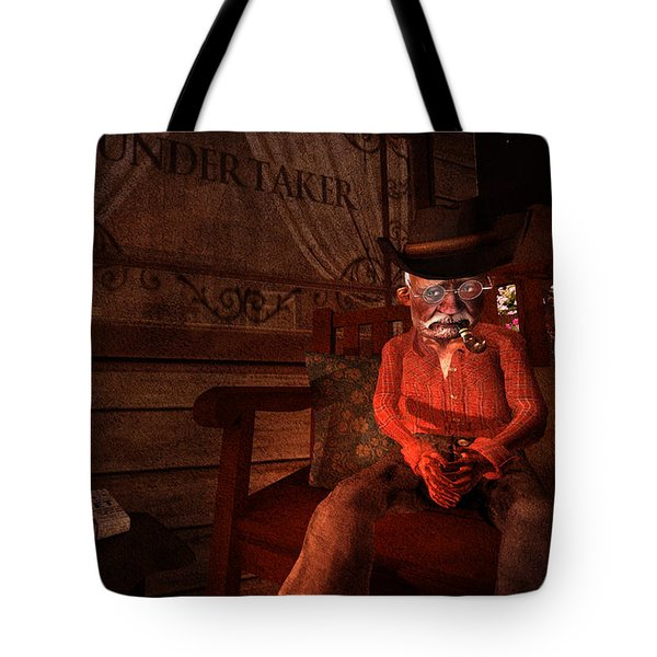 Ol' Ben Waiting For The Undertaker Tote Bag by Kylie Sabra