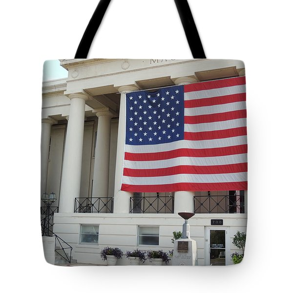 Tote Bag featuring the photograph Ol' Glory by Aaron Martens