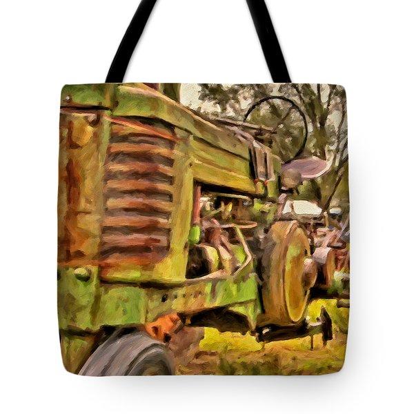 Ol' John Deere Tote Bag by Michael Pickett