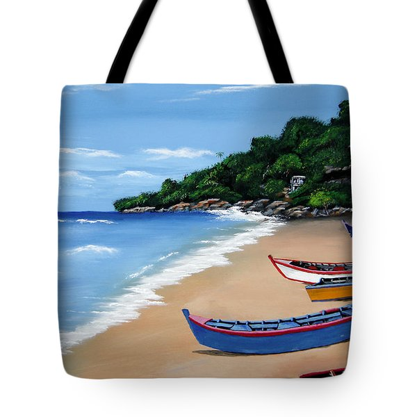 Olas De Crashboat Tote Bag by Luis F Rodriguez