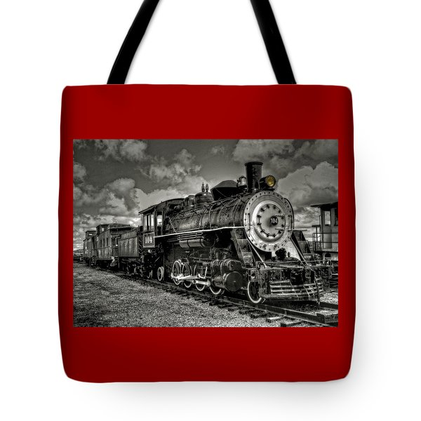 Old 104 Steam Engine Locomotive Tote Bag
