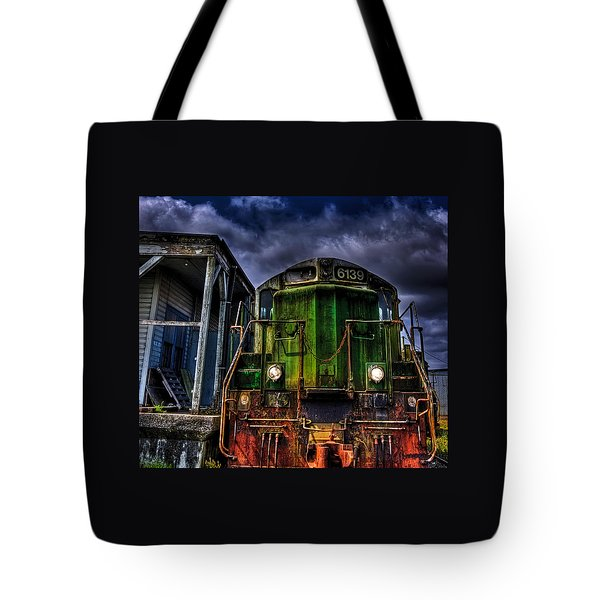 Tote Bag featuring the photograph Old 6139 Locomotive by Thom Zehrfeld
