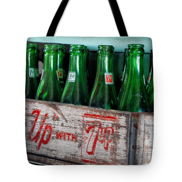 Old 7 Up Bottles Tote Bag