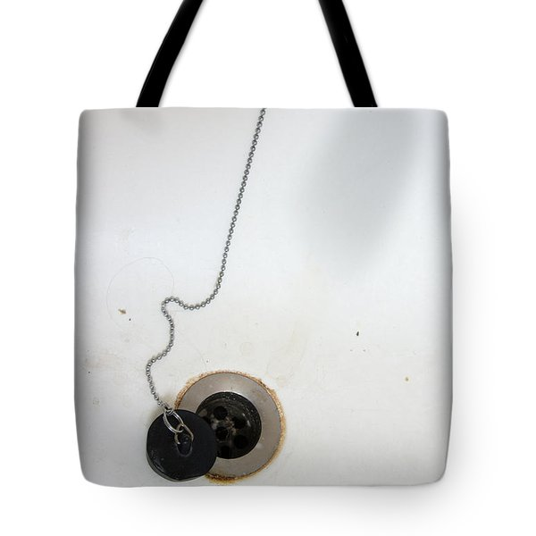 Old And Dirty Bathtub With Drain And Plug   Tote Bag by Matthias Hauser
