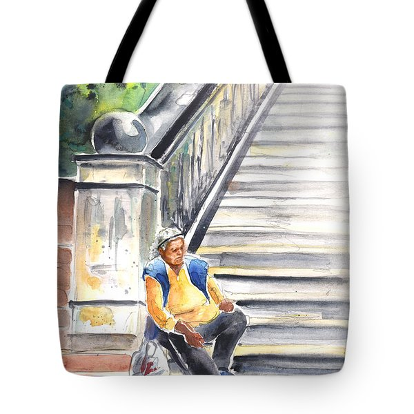 Old And Lonely In Prague 02 Tote Bag by Miki De Goodaboom