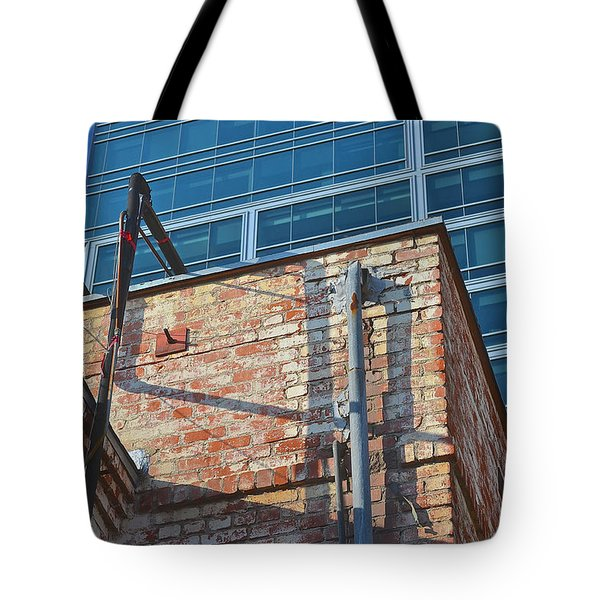 Old And New Los Angeles Tote Bag by Bill Owen