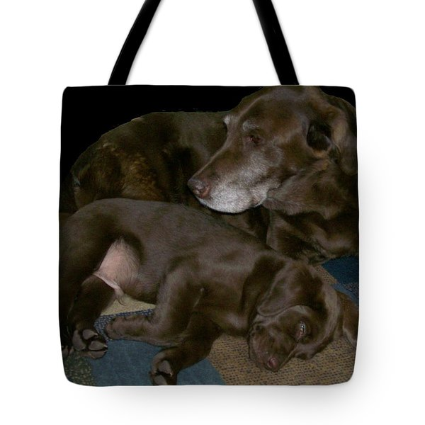 Old And Young Tote Bag by Barbara S Nickerson