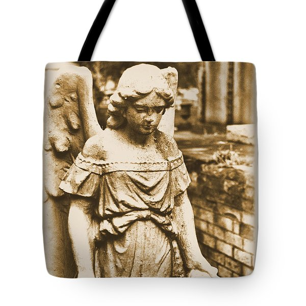 Tote Bag featuring the photograph Blessed Angel   by Nadalyn Larsen
