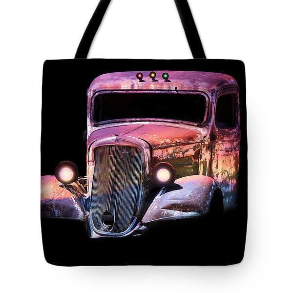Old Antique Classic Car Tote Bag