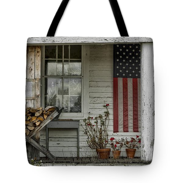 Old Apple Orchard Porch Tote Bag