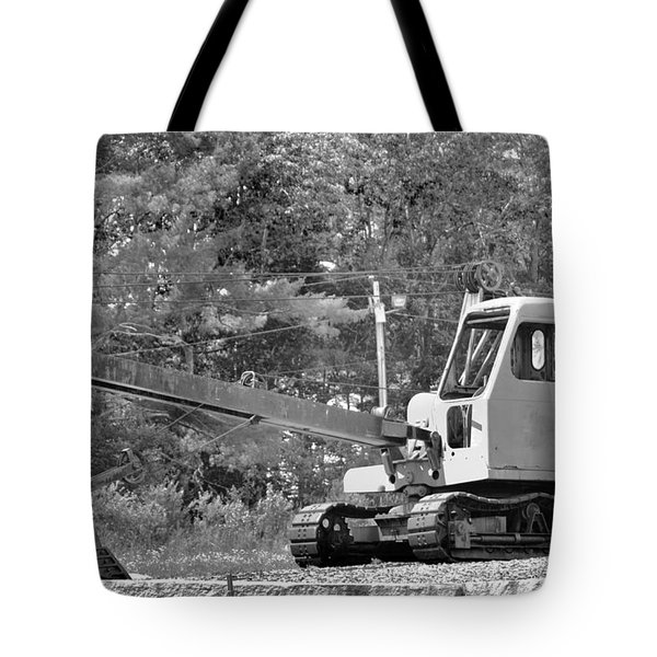 Old Backhoe Tote Bag by Tara Potts