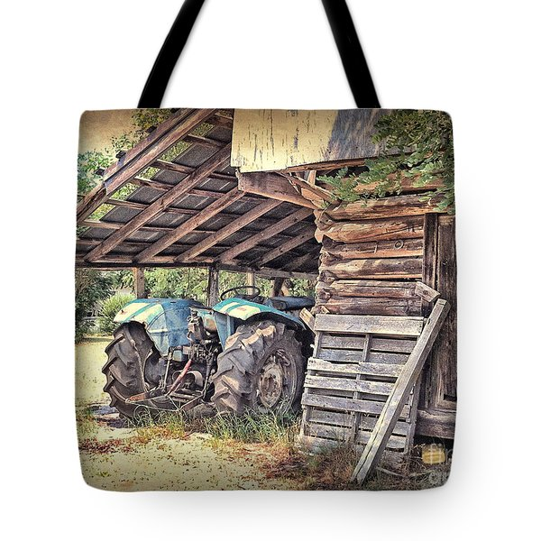 Old Barn And Tractor Tote Bag