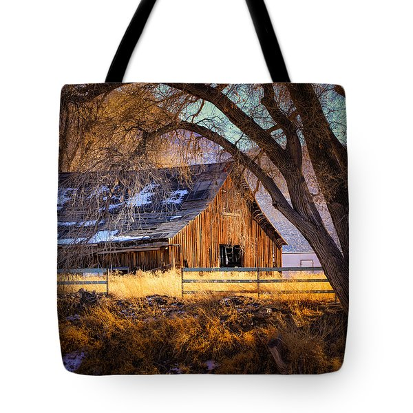 Old Barn In Sparks Tote Bag by Janis Knight