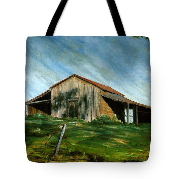 Old Barn Landscape Art Pleasant Hill Louisiana  Tote Bag