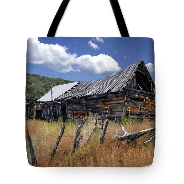 Old Barn Las Trampas New Mexico Tote Bag