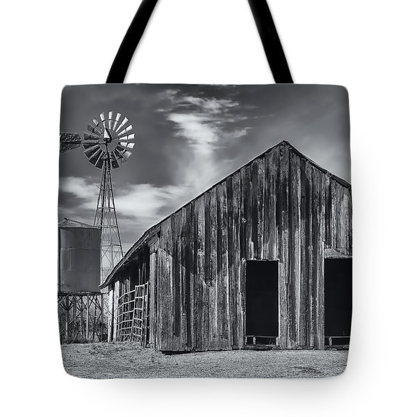Old Barn No Wind Tote Bag by Mark Myhaver