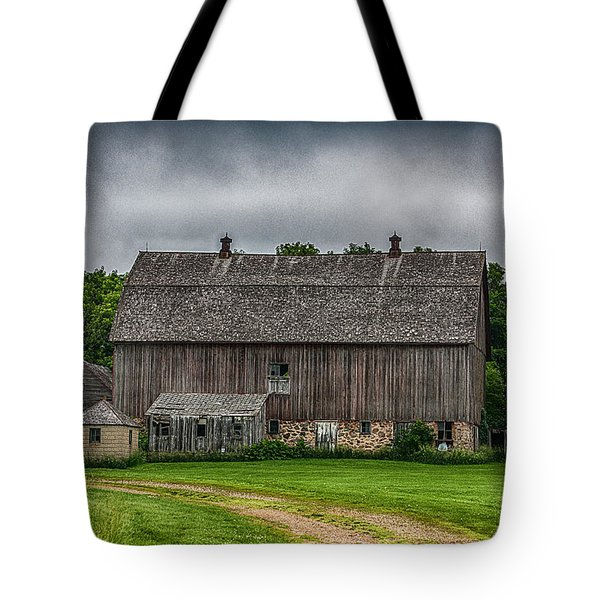 Old Barn On A Stormy Day Tote Bag by Paul Freidlund