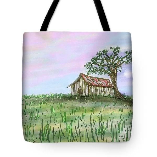 Old Barn Tote Bag by Stacy C Bottoms