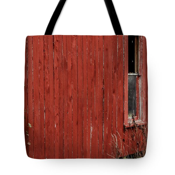Tote Bag featuring the photograph Old Barn Window by Debbie Karnes