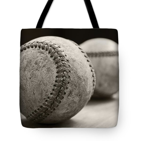 Old Baseballs Tote Bag