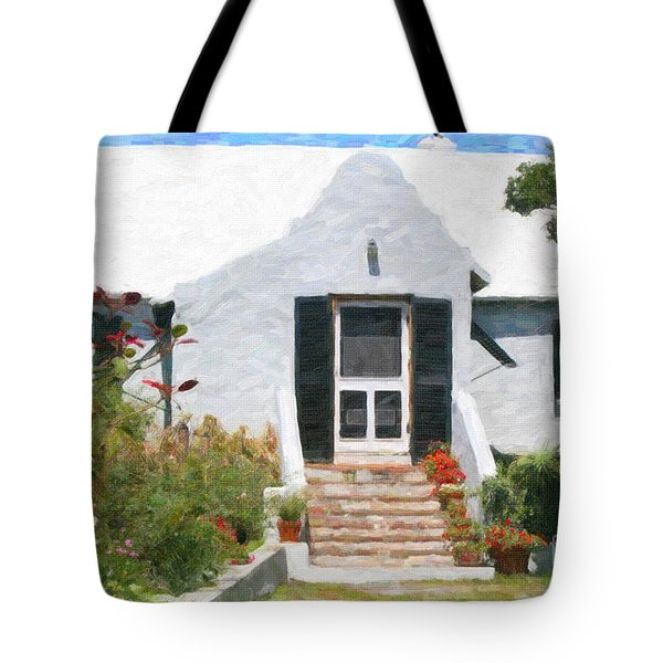 Tote Bag featuring the photograph Old Bermuda Home by Verena Matthew